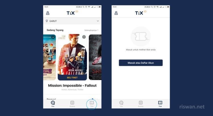 Cara Beli tiket bioskop di aplikasi TIX ID