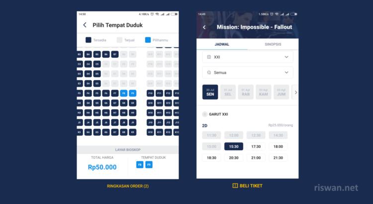 Cara Beli tiket bioskop di aplikasi TIX ID tan pa antri